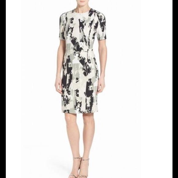 595acc832b6 BOSS  Depina  Print Stretch Woven Sheath Dress. Boutique. Hugo Boss