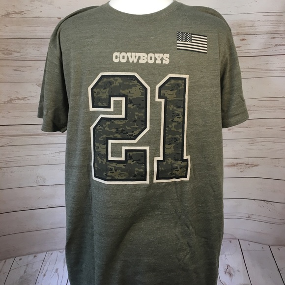 f13edc670 Dallas Cowboys Authentic Apparel Other - Zeke Elliott 24 Salute to Service  Name and Number