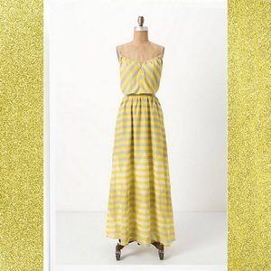 {Anthropologie} Diamond Rays Maxi Chemise Dress