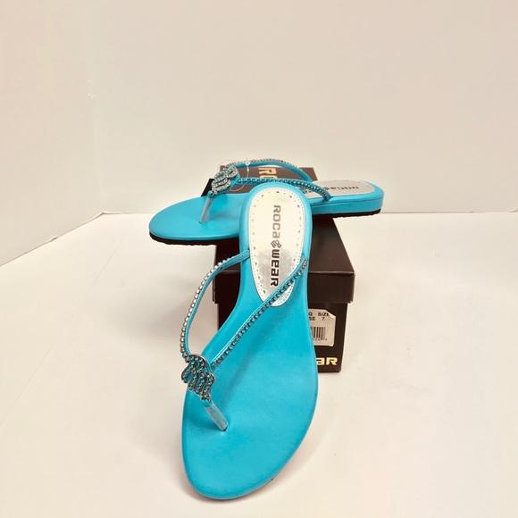d1ea307e2 Ladies RocaWear Sandals Turquoise Size 7