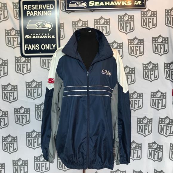 new product 7a839 5ce30 Last Call 😮🐾🐾 Seahawks rain jacket XL 💚💙