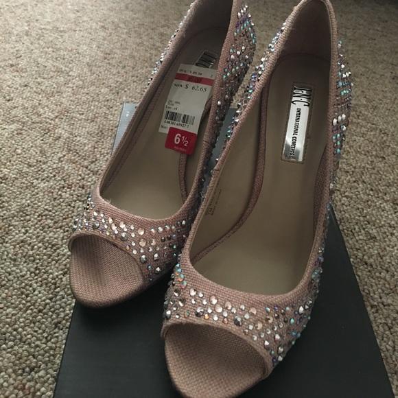 b2d72e7b3659 6.5 Petal Pink Inc Sparkly Rhinestone Heels