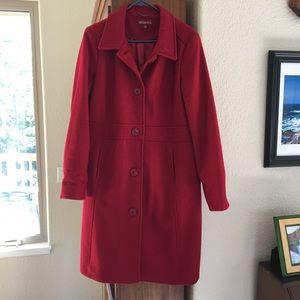 Long Wool Pea Coat, XL