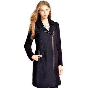 Andrew Marc Wool Jacket Coat Leather Accent Peyton