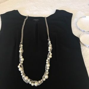 Long pearl & silver chain Givenchy necklace