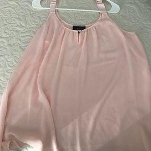 Lane Bryant pale pink/blush flowy tank
