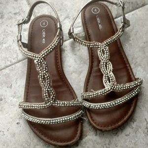 Other - Girls Gold Beaded Sandals