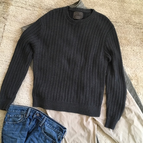 """75% off Jach's New York"""" Other - Men's charcoal cotton crew ..."""