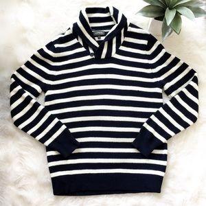 NWOT Men's Express Striped Funnel Neck Sweater