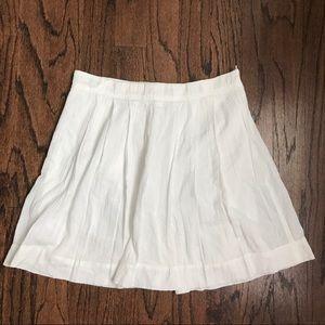 Ann Taylor LOFT white skater skirt