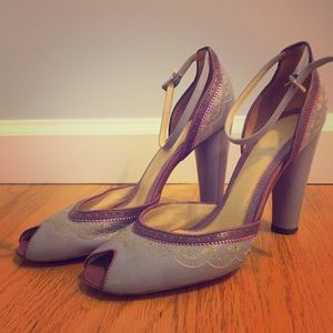 Francesca Giobbi purple heels, a work of ART