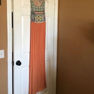 Tribal print long dress