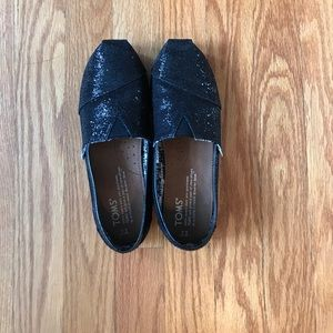 Other - Toms 3Y Black sparkle slip on's.