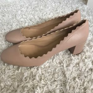 Chloe Lauren Scalloped Nude Pump