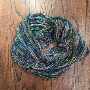 Colorful infinity scarf