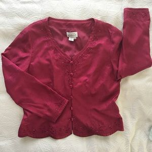 NWOT Adrianna Papell Long Sleeve Blouse 16