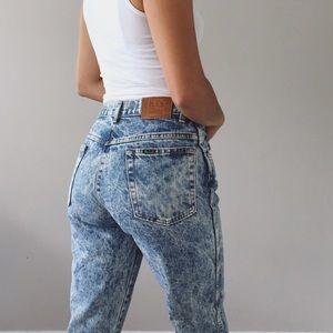 Vintage High Waisted Acid Wash Jeans