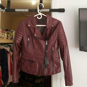 Motor jacket beautiful burgundy color!