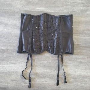 Black Detailed Underbust Corset