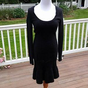 Cashmere Black Sweater Dress