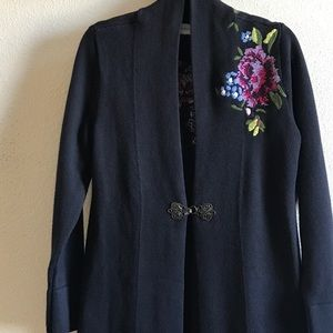 Soft Surroundings Embroidered Cardigan