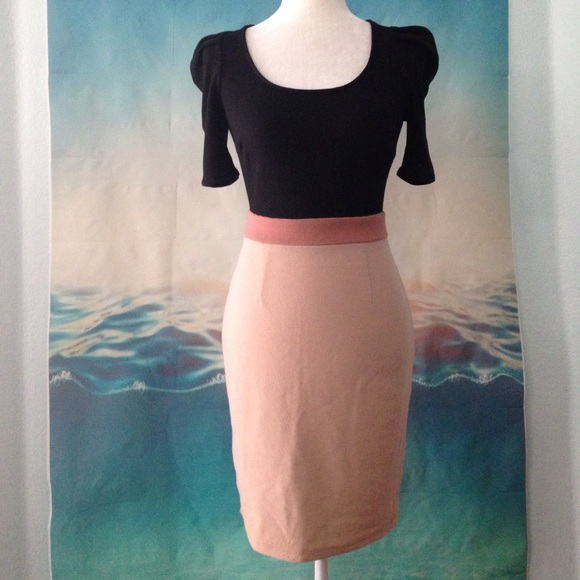 Under $10 BOGO Black and Tan Dress 14