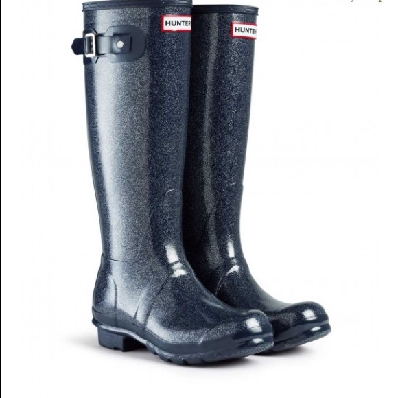390c6bee5d Hunter Boots Shoes - 🔥SALE🔥Hunter Tall Navy Boot with Sparkle-flecks