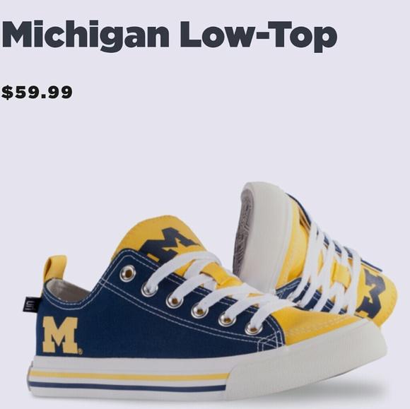 University of Michigan low top sneakers NWT