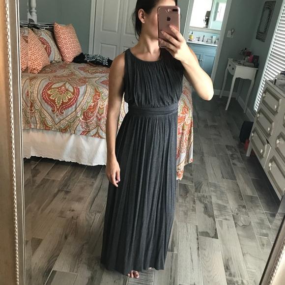 one clothing Dresses & Skirts - Gray Grecian maxi dress