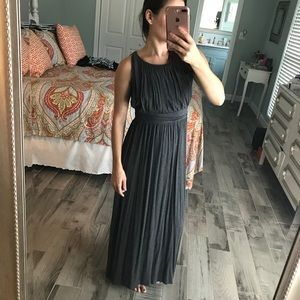 Gray Grecian maxi dress
