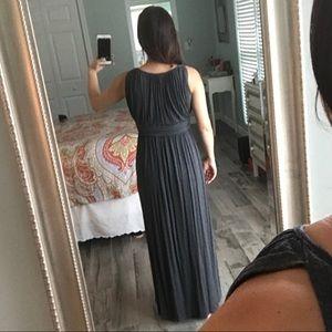 one clothing Dresses - Gray Grecian maxi dress