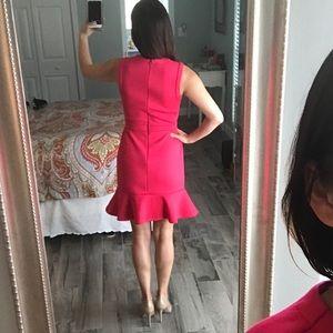 LOFT Dresses - Bright coral/pink tulip dress 🌷