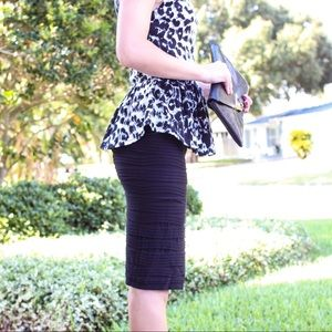 Animal print peplum tank