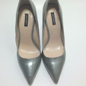 AUTHENTIC Shoemint Silver Stiletto Classic Heel