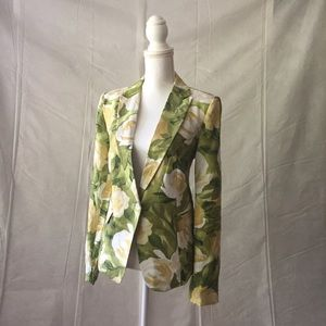 🆕 PREMISE | Cream & Green Floral Blazer Jacket