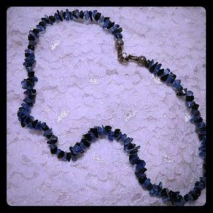 Jewelry - Black&Blue Jade necklace