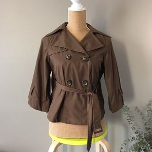 BCBGMAXAZRIA short trench jacket XXS