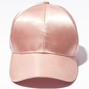 NWT BP Pink Satin Baseball Hat