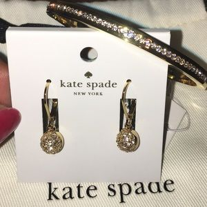 NWT Kate Spade earring/bangle set w/ dustbag