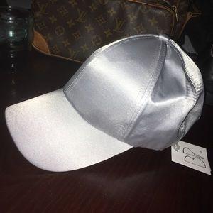 NWT BP Gray Satin Hat