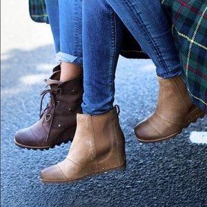 1f83c3a1ad37 Sorel Shoes - New in box Sorel Lea Wedge boots Elk size 9