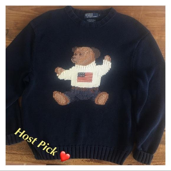 d8ca67ecec ⭐️❤️❤️HP!!!⭐️ Ralph Lauren RARE VINTAGE bear, flag