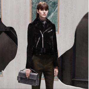 Balenciaga Women's Black Mink-Fur Biker Jacket