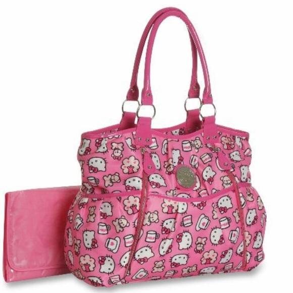 Hello Kitty Other - Pink Hello Kitty Diaper Bag cf9f64f72244b