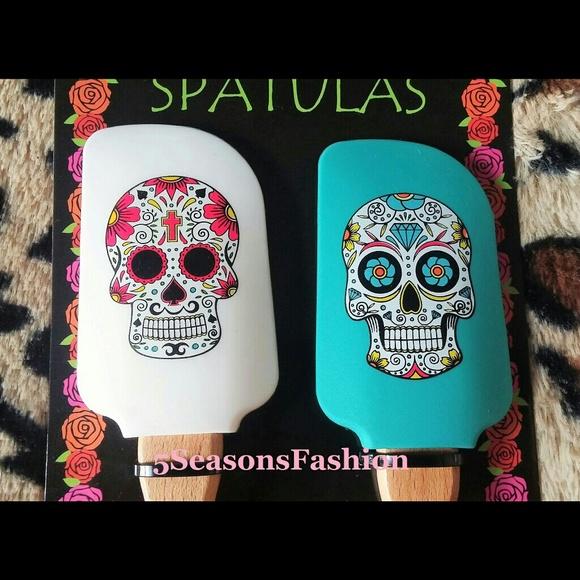 Williams Sonoma Day of the Dead Skull Silicone Spatula
