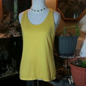 Yellow racer back tank large