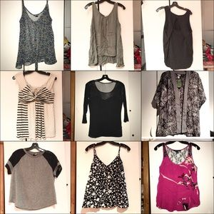 Bundle of 10 tops and blouses, size M