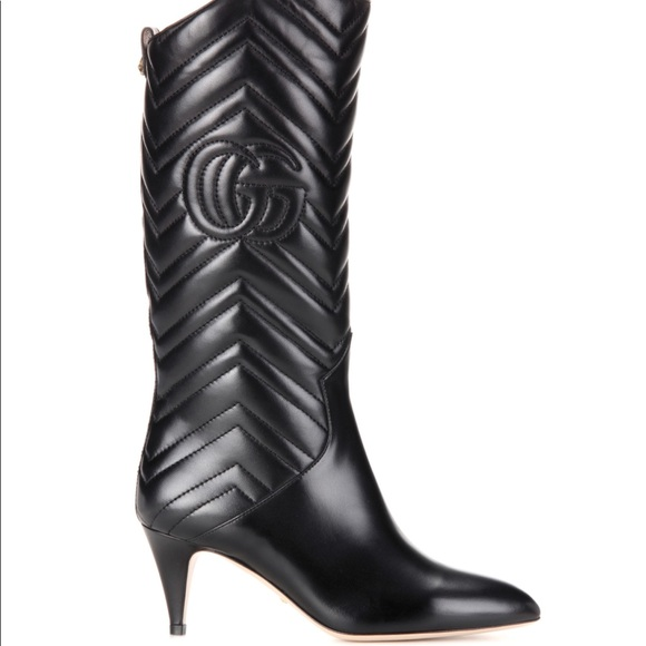 ea71abf25 Gucci Shoes | Sold 1490 Matelasse Leather Boots 375 | Poshmark