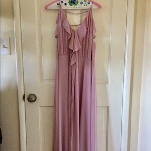 Romantic Purple Ruffle Wayf Maxi Dress