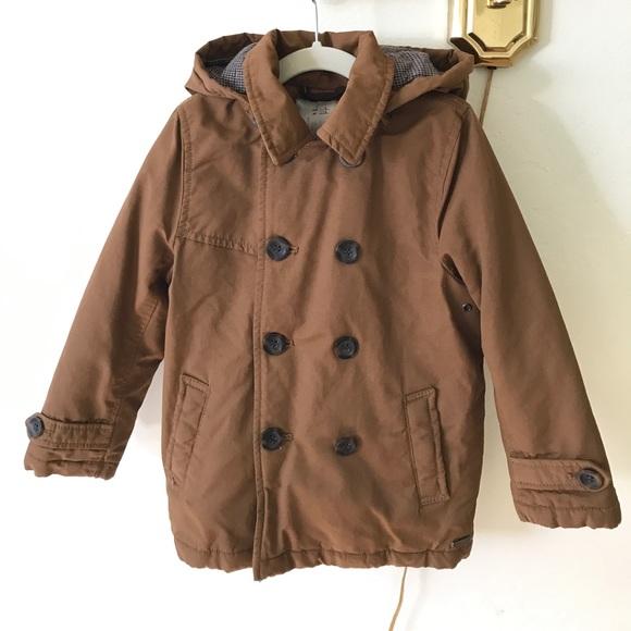 e66a6924 Zara Jackets & Coats | Boys Trench Coat With Hood | Poshmark